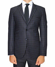 Black Check Superior Semi Slim Fit Suit with Double Pocket Detail