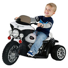 2016 Kid Toy Ride On Electric Powered Scooter Harley Motorbike Police Motorcycle