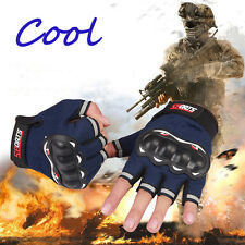 New Motocross Racing Gloves Pro Motorcycle Bike Cycling Half Finger Gloves Pair