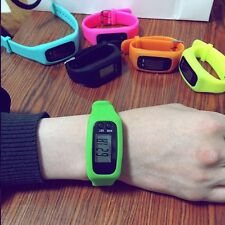 Fashion Digital LCD Pedometer Calorie Counter Run Step Walking Distance Watch