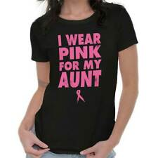 Breast Cancer Awareness Wear Pink For My Aunt Pink Ribbon Gift Ladies T-Shirt