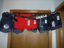 Mini Jean Shorts with Belts Wall Flower size 13,9,7.3, Some Dark Blue & Red oran