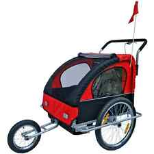 Bicycle Bike Cycle Convertible Jogger Stroller Kids Passenger Carrier Trailer