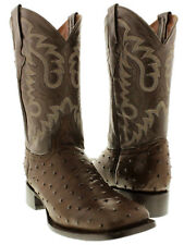 ostrich quill cowboy boots mens brown leather western crocodile exotic