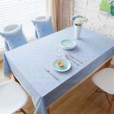 Banana Christmas Linen Tablecloth Blue Table Cloth Cushion Cover Lace Home Decor