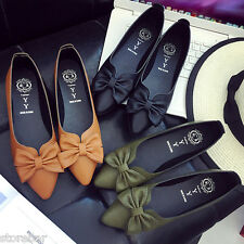 SALE Ladies Women Pointed Toe Slip On Flats Comfy Casual Dolly Pumps Flats Shoes
