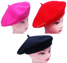 3 6 12 FRENCH UNISEX BERET BEANIE HAT FANCY DRESS HAT CAP WINTERS WOOL HAT LOT
