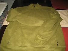 MENS CALLAWAY GOLF C-TECH PERFORMANCE 1/4 SWEATER TOP LARGE L OLIVE GREEN