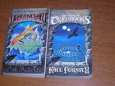 2x Kate Forsyth - Witches Eileanan Dragonclaw & Pool of Two Moons 1st edn SIGNED