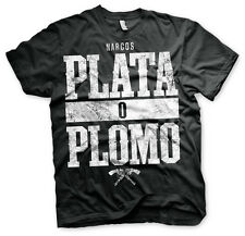 Officially Licensed Narcos - Plata o Plomo T-Shirt S-XXL Sizes