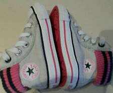 Converse All Star unisex girls boys creem colour hi top trainers -size 4