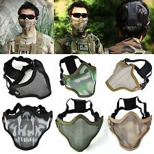 Strike Metal Mesh Camouflage Protective Half Face Tactical Airsoft Military Mask