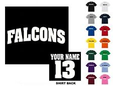 Falcons College Letters Football Custom T-shirt #258 - Free Shipping