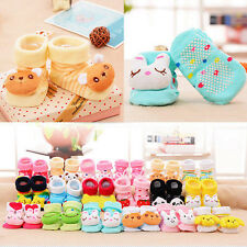 Cute Cartoon Baby Infants Kid Girl Boy Anti-slip Socks Slipper Socks Shoes Boots