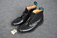 Vintage Solovair Police Boots black leather 7.5 uk 8.5 us made in England