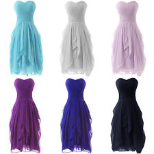 Sweetheart Short Chiffon Bridesmaid Party Dresses Formal Prom Ball Cocktail Gown