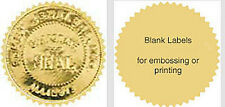 """80 Serrated Gold-Silver Foil Notary Corporate Seals Labels 2-1/8"""" Emboss Print"""