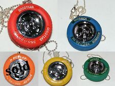 Rubber Tire Vintage Necklace, Goodyear, Firestone, Daytona, Goodrich