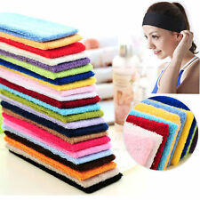 Cotton Sport Sweat Sweatband Headband Yoga Gym Stretch Head Band Hair