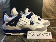 [487724-132] AIR JORDAN RETRO 4 GS GRADE SCHOOL KNICKS WHITE-ORANG-BLUE GS IV