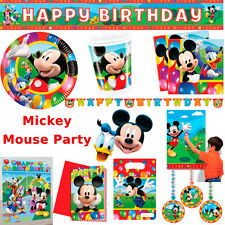 Mickey Mouse Birthday Party Time Supplies Red Plates Cups Napkins Decorations