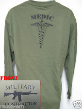 PRIVATE MILITARY CONTRACTOR MEDIC LONG SLEEVE T-SHIRT/  NEW