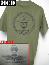 USMC RECON T-SHIRT/ MCD/ DRILL INSTRUCTOR T-SHIRT/ MARINES/ MILITARY/  NEW