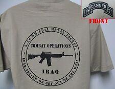 75th RANGER RGT T-SHIRT/ MILITARY/ IRAQ COMBAT OPS/ ARMY/ NEW