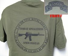 1st RANGER BN T-SHIRT/ MILITARY/ AFGHANISTAN COMBAT OPS/ ARMY/ NEW