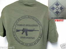 4th ID T-SHIRT/ MEDIC/ AFGHANISTAN COMBAT OPERATIONS /  4TH INFANTRY DIV/  NEW