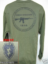 25th I.D. LONG SLEEVE T-SHIRT/ IRAQ COMBAT OPS / MILITARY/ ARMY / NEW