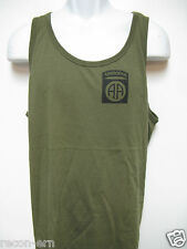 82ND AIRBORNE od green TANK TOP T-SHIRT/ FRONT PRINT ONLY/ / MILITARY/  NEW