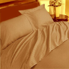 THREAD TREASUREs SOFT TAUPE STRIPE BEDDING COLLECTION 1000TC 100% COTTON - TP01