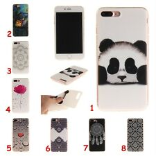 For iPhone 5 6 7 Samsung Slim Soft Silicone TPU IMD Rubber Gel Back Case Cover