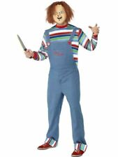 Mens Adult Chucky Costume Childs Play 2 Killer Doll Outfit Halloween Fancy Dress