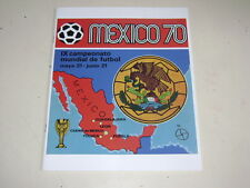 PANINI WORLD CUP MEXICO OFFICIAL ALBUM REPRINTED 1970 - 100% complete!