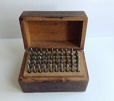 Vintage watchmaker staking tool punches.