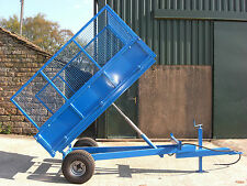 **NEW HEAVY DUTY FARM TIPPING TRAILER. 1.5tonne. For Compact tractor** UK MADE**