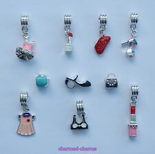 Themed Gift Sets of Mixed Dangle & Charm Bracelet Beads in an Organza Gift Bag