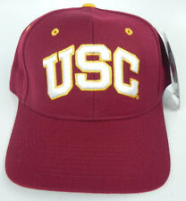 USC TROJANS CARDINAL NCAA VINTAGE FITTED SIZED ZEPHYR DH CAP HAT NWT!