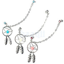 1X Dream Catcher Ear Piercing Cartilage Stud Earring Dangle Helix Tragus Cuff MA
