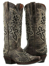 womens wings cross rhinestones studded cowgirl leather western cowboy boots