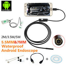 2M/3.5M/5M 6 LED Android Borescope Waterproof Inspection Video Camera PD