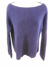 Vince. Navy Blue Boat Neck Knit Sweater Size Small