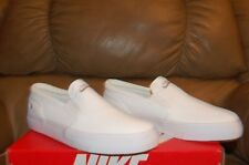 Nike Wmns Toki Slip Canvas 724770 100 size 8-11 Casual White Shoes