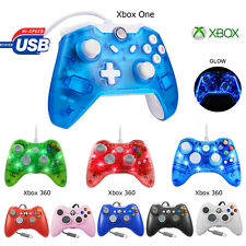 Glow Light USB Wired Remote Controller Gamepad For Xbox One Xbox 360 Console &PC