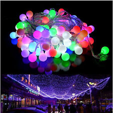 10M 100 Bulbs Globes Balls LED Fairy String Lights Lamps Wedding Christmas Party