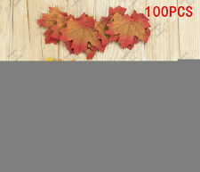 100 Mixed Artificial Artificial Fall Silk Leaves Wedding Autumn Maple Leaf Decor