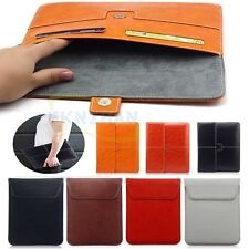 "Leather Sleeve Pouch Bag Case Cover Protect Universal For Various 8"" inch Tablet"