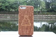 Buddha Natural Cherry Wood Wooden Hard Cover Case for iPhone 7 or 7 Plus